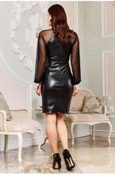 Чорно-серое принтованное молодежное платье