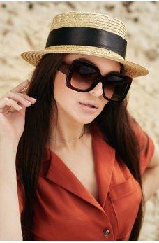 Квадратные стильные солнцезащитные очки в масивной оправе