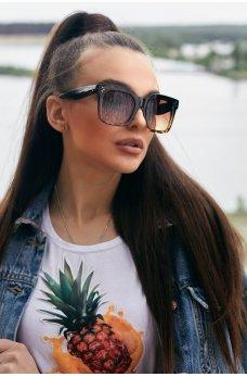 Квадратные солнцезащитные очки с лео-принтом