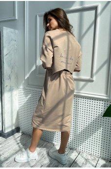 Изумительное базовое платье цвета кофе