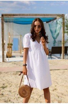 Белое изумительное легкое платье из батиста