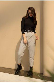 Серые кашемировые элегантные брюки