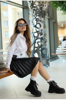 Белая стильная асимметричная рубашка