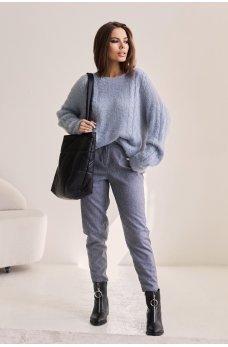 Голубой шикарный женский свитер