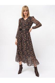 Шифоновое платье в мелкий цветочный принт