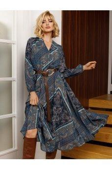 Шикарное шифоное платье