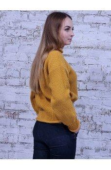 Стильный горчичный свитер