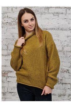 Стильный оливковый свитер