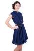 Темно-синее платье шифон - фото 2