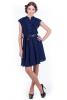 Темно-синее платье шифон