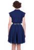 Темно-синее платье шифон - фото 1