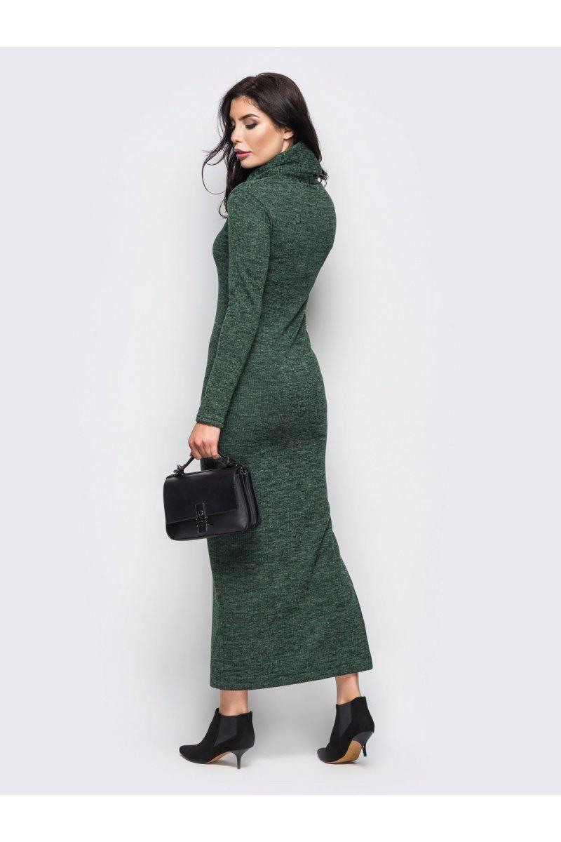cae89a5467abf9 Темно-зелене довге плаття в стилі кежуал