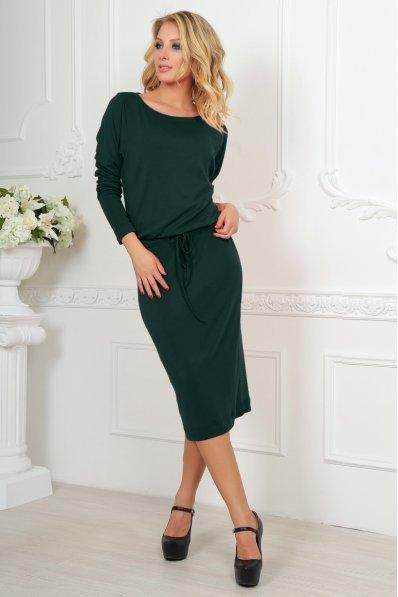 Темно-зелене плаття міді з куліскою