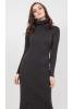 Теплое платье чулок графитового цвета  - фото 1