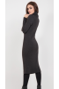 Теплое платье чулок графитового цвета  - фото 2