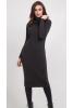 Теплое платье чулок графитового цвета  - фото 3