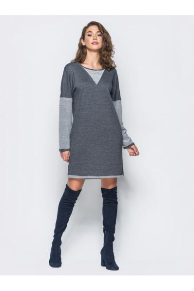 Трикотажное платье серого цвета