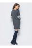 Трикотажное платье серого цвета - фото 2