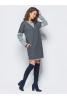 Трикотажное платье серого цвета - фото 1