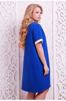 Стильное платье-туника цвета электрик