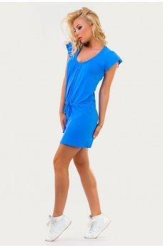 Зручне літнє плаття-туніка блакитного кольору