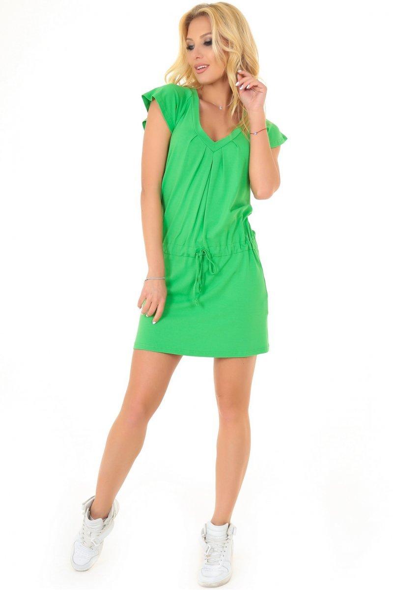 79dd75955be Удобное летнее платья-туника зеленого цвета