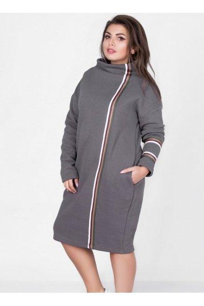 Уютное теплое платье на флисе