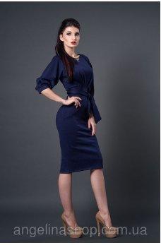 Утонченное платье карандаш темно-синего цвета