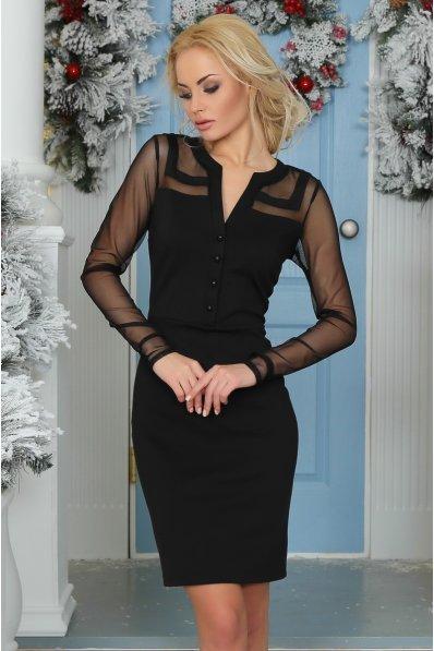 Утонченное нарядное черное платье