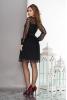 Воздушное двухслойное платье черного цвета с пышной юбкой - фото 1
