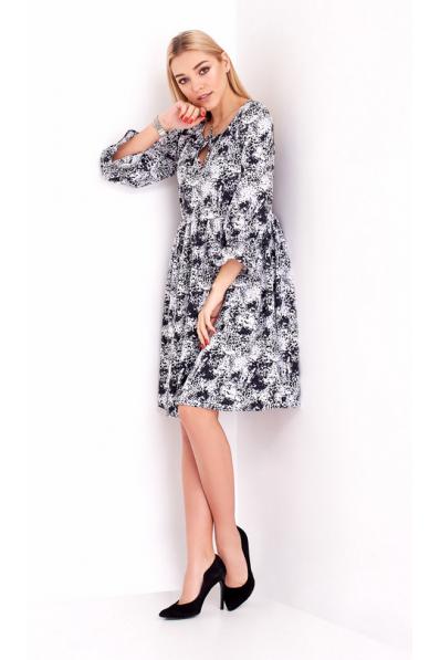 Воздушное платье с вискозы графитового оттенка