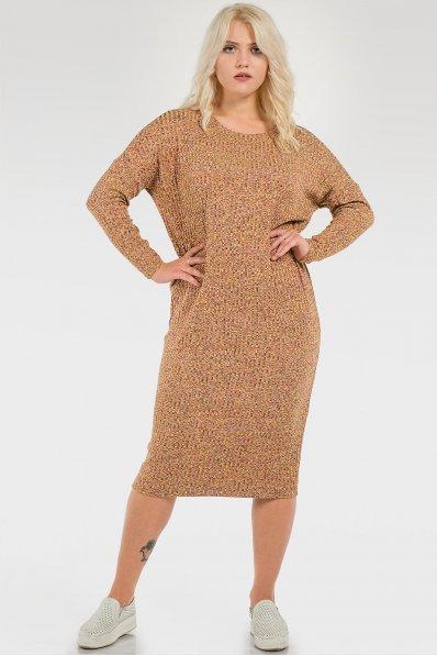 Лаконичное горчичное платье оверсайз