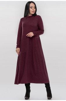 Оригинальное платье бордового цвета