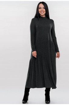 Оригинальное платье темно-серого цвета