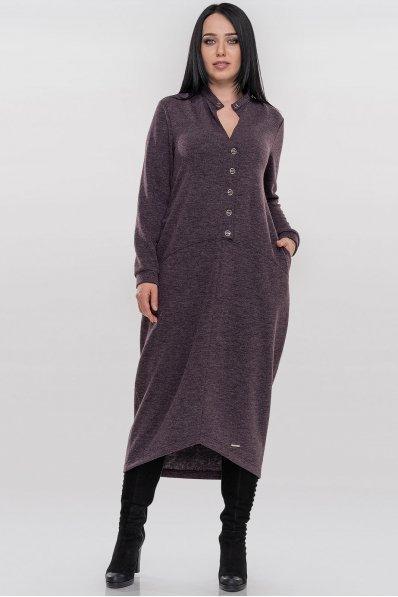 Повседневное платье мешок серо-фиолетового цвета