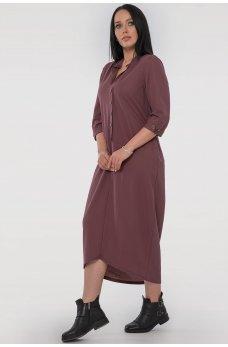 Повседневное платье мешок цвета капучино