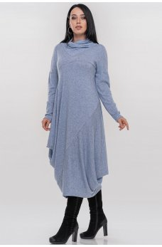 Уютное платье оверсайз голубого цвета