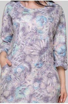 Женственное платье с принтом