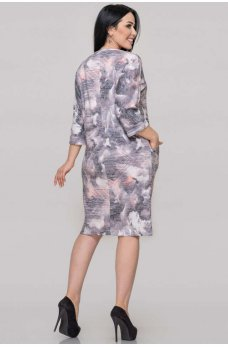 Женственное платье футляр с принтом