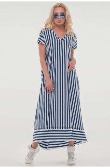 Летнее платье в сине-белую полоску
