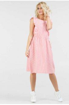 Нежное хлопковое летнее платье с расклешенной юбкой