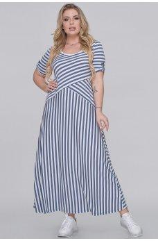 Летнее платье джинсового цвета в полоску