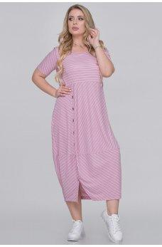 Фрезовое летнее платье в полоску