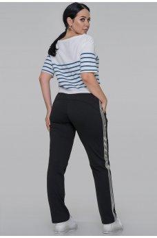 Черные спортивные трикотажные брюки