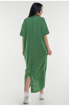 Летнее платье рубашка зеленого цвета