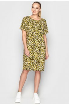 Летнее платье мешок ромашки и белые цветы