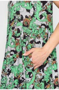 Принтованное платье оверсайз из штапеля