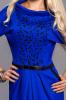 Ярко-синее платье с перфорацией - фото 1