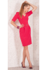 Элегантное платье алого цвета