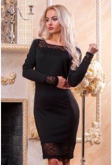 Загадочное нарядное платье с гипюровой спинкой